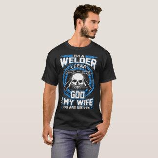 Dieu de crainte de la soudeuse I mon épouse et T-shirt