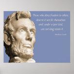 Dieu de Lincoln Posters