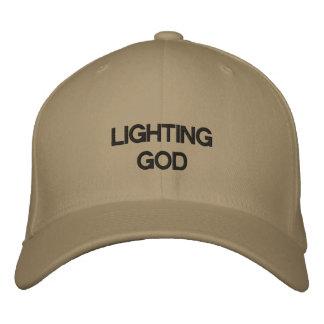 Dieu d'éclairage casquette brodée