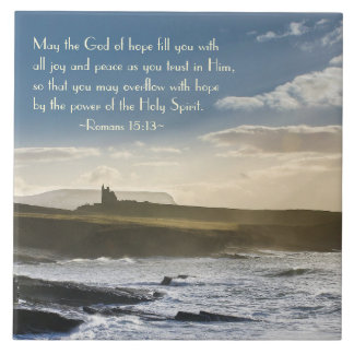 Dieu d'espoir, vers de bible de 15h13 de Romains, Carreau