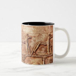 Dieu égyptien Wepwawet de chacal Tasse 2 Couleurs