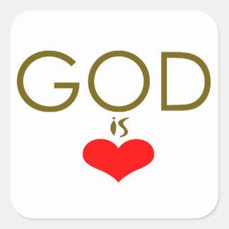 Dieu est amour sticker carré