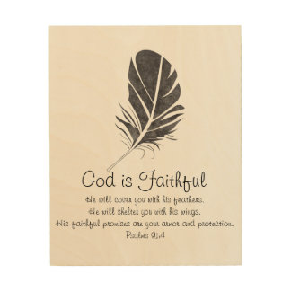 Dieu est art en bois fidèle de mur