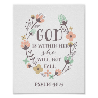 Dieu est chez elle, elle ne tombera pas. 46:5 de posters