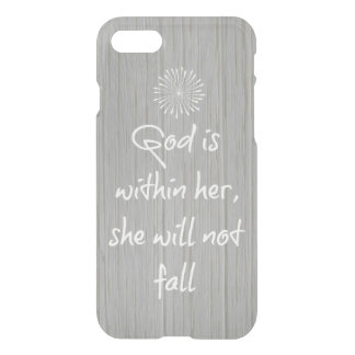Dieu est chez elle, elle ne tombera pas vers de coque iPhone 7