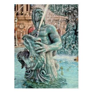 Dieu grec mythologique de Triton de fontaine de Carte Postale