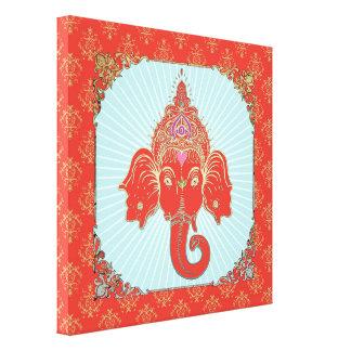 Dieu indien de GANESHA - toile enveloppée