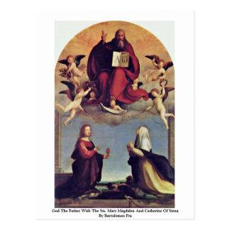 Dieu le père avec le Sts. Carte Postale