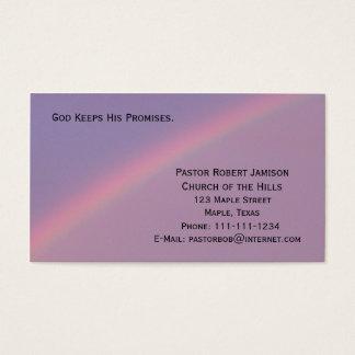 Dieu maintient ses promesses religieuses cartes de visite