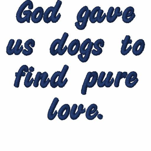 Dieu nous a donné des chiens pour trouver l'amour  polo