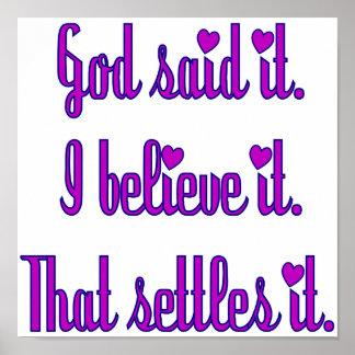Dieu pourpre l'a dit poster