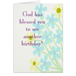 Dieu vous a bénis carte d'anniversaire
