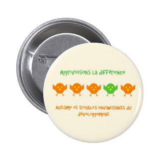 Différence rond2 - macaron de La d'Apprivoisons Badge