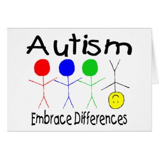 Différences d'étreinte d'autisme (les gens) cartes