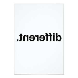 Différent Carton D'invitation 8,89 Cm X 12,70 Cm