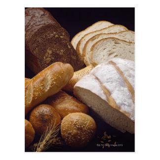 Différents types de pain d'artisan carte postale