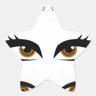 Différents types de yeux des femmes sticker étoile