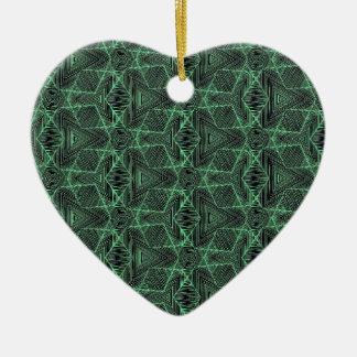 Digimesh2 Ornement Cœur En Céramique