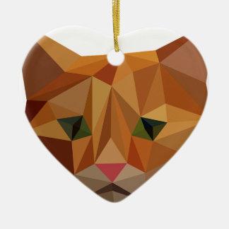 Digitals Kitty Ornement Cœur En Céramique