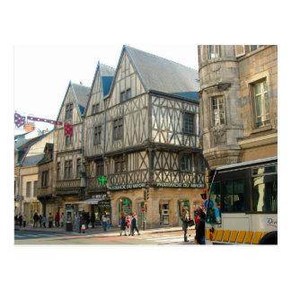 Dijon, Bourgogne, France, bâtiments médiévaux Carte Postale
