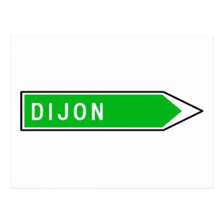 Dijon, panneau routier, France Carte Postale