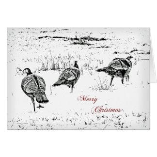 Dindes sauvages de carte de voeux de Joyeux Noël