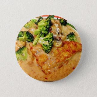 Dîner de cuisine de nourriture de Piccata de Badge