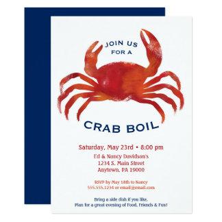 Dîner de fruits de mer de bas pays d'invitation carton d'invitation  12,7 cm x 17,78 cm