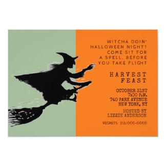 Dîner de Halloween Carton D'invitation 12,7 Cm X 17,78 Cm