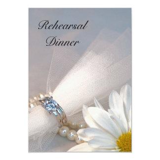 Dîner de répétition de mariage d'élégance de carton d'invitation  12,7 cm x 17,78 cm