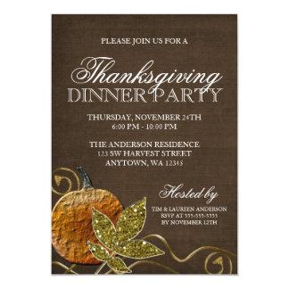 Dîner de thanksgiving carton d'invitation  12,7 cm x 17,78 cm