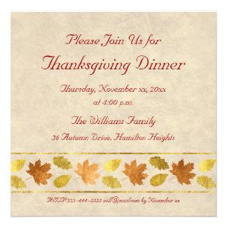Dîner de thanksgiving invitation