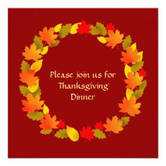 Dîner de thanksgiving faire-parts