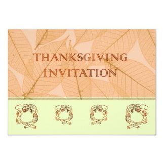 Dîner Invitatation de thanksgiving avec la dinde Carton D'invitation 12,7 Cm X 17,78 Cm