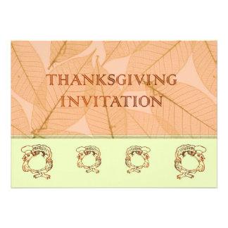 Dîner Invitatation de thanksgiving avec la dinde