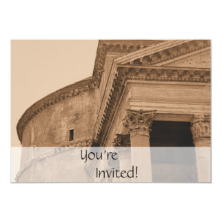 Dîner italien personnalisé du Panthéon   de Rome Carton D'invitation 12,7 Cm X 17,78 Cm
