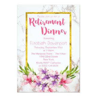 Dîner rose et pourpre de retraite de magnolias carton d'invitation  12,7 cm x 17,78 cm