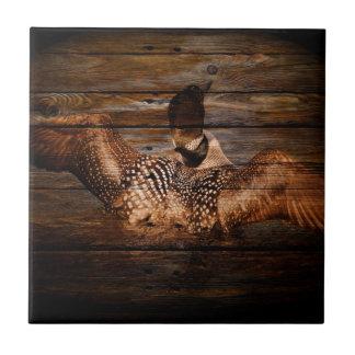 Dingue en bois d'oiseaux aquatiques de pays petit carreau carré