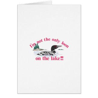 Dingue sur le lac carte de vœux