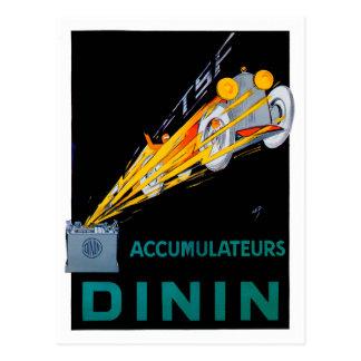 Dinin Accumulateurs/annonce de cru de ~ batterie Carte Postale
