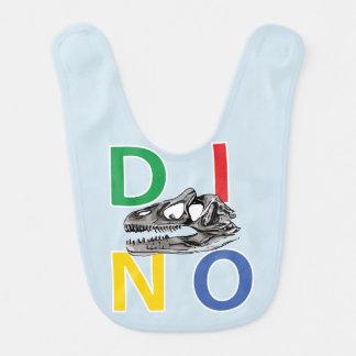 DINO - bavoir bleu-clair de bébé