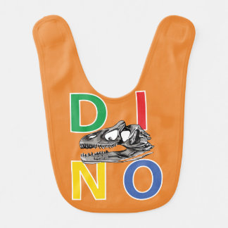DINO - bavoir orange de bébé