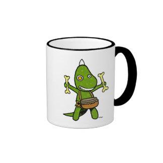 Dino fou mug ringer