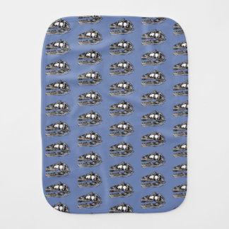 DINO - linge de bébé de gris bleu