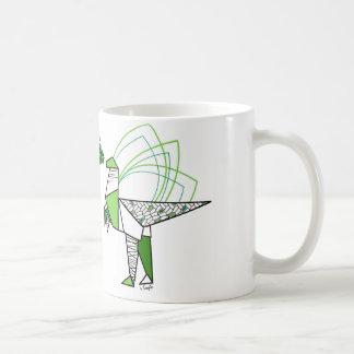 Dino origami mug