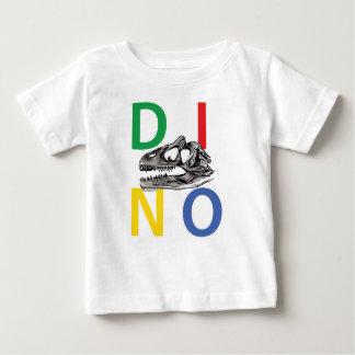 DINO - T-shirt blanc du Jersey d'amende de bébé