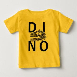 DINO - T-shirt jaune du Jersey d'amende de bébé