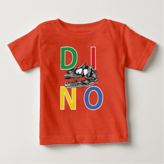 DINO - T-shirt orange du Jersey d'amende de bébé