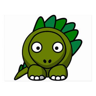 Dinosaure de bande dessinée carte postale