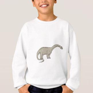 Dinosaure de brontosaure regardant en bas de la sweatshirt